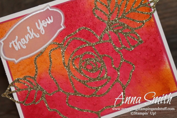 Watercolor Rose Wonder Card Stampin' Up!