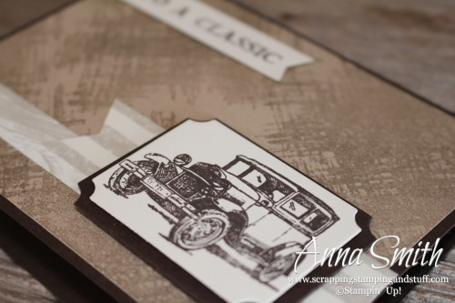 Stampin' Up! Guy Greetings masculine man card with vintage antique car