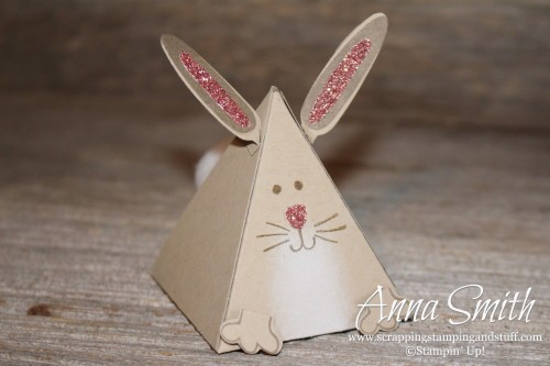 Stampin' Up! Playful Pals Valentine's or Party Bunny Rabbit Treat Box