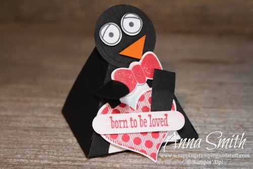 Stampin' Up! Playful Pals Valentine's or Party Penguin Treat Box