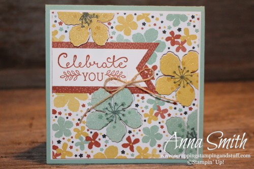 ICS Blog Hop Welcome Spring Botanical Blooms Card also uses Suite Sayings stamp set