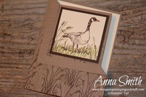 Stampin' Up! Wetlands Corner Fold Masculine Birthday Card