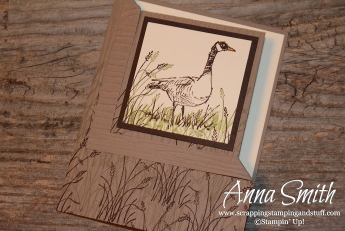 Stampin' Up! Wetlands Corner Fold Masculine Birthday Card