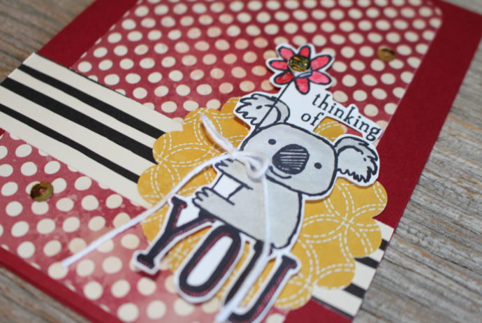 Kind Koala Thinking of You Card made with Farmers Market designer series paper.