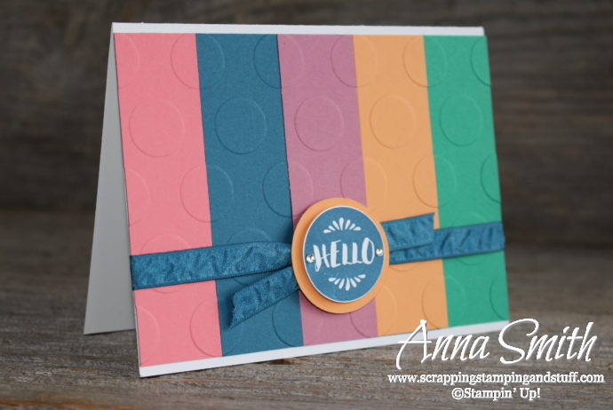 Stampin' Up! In Colors for 2016-2018, Flirty Flamingo, Dapper Denim, Sweet Sugarplum, Peekaboo Peach, and Emerald Envy, and the Pop of Paradise stamp set