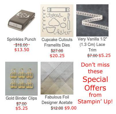 Stampin' Up! Special Offers