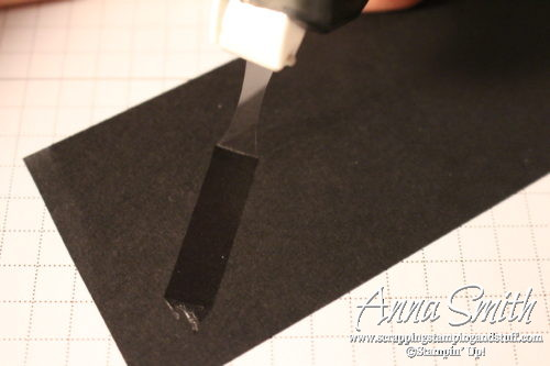 Hand tip for using super strong Fast Fuse Adhesive for paper projects - don't pull your hair out, just read this!