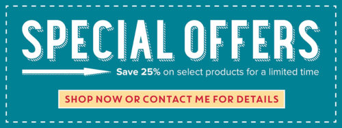 Stampin' Up! Special Offers are 25% off! Available only for a short time.