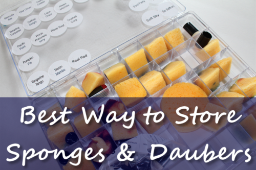 Best way to organize stamping sponges and daubers!