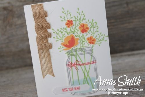 Such a cheery card made with the Stampin' Up! Jar of Cheer stamp set