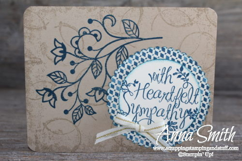 Lovely sympathy card made with Stampin' Up! Flourishing Phrases, Timeless Textures, and Heartfelt Sympathy stamp sets
