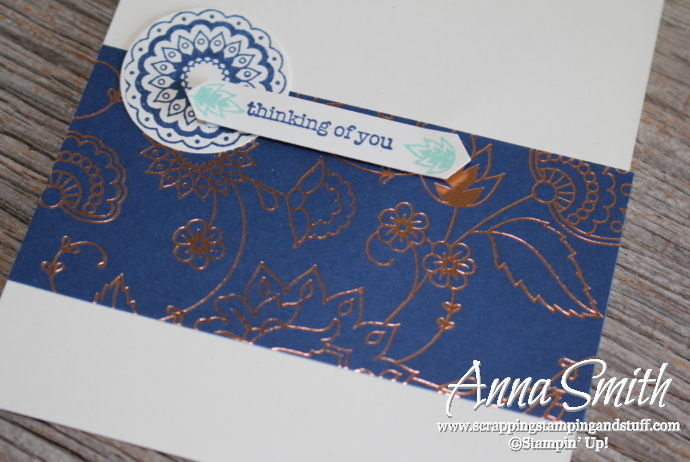Simple thinking of you card made with Stampin' Up! Paisleys & Posies and Teeny Tiny Wishes stamp sets and Petals & Paisleys designer series paper