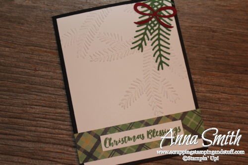 Christmas Pines Christmas Card with Warmth & Cheer designer paper