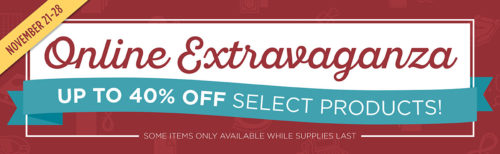 Stampin' Up! Online Extravaganza Black Friday Week Sale and Deals