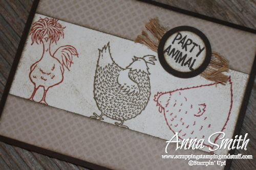 Adorable party animal chicken card made with the Hey, Chick Sale-a-bration reward stamp set and Balloon Builders