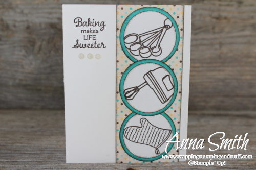 Baking makes life sweeter card made with Stampin' Up! Perfect Mix stamp set