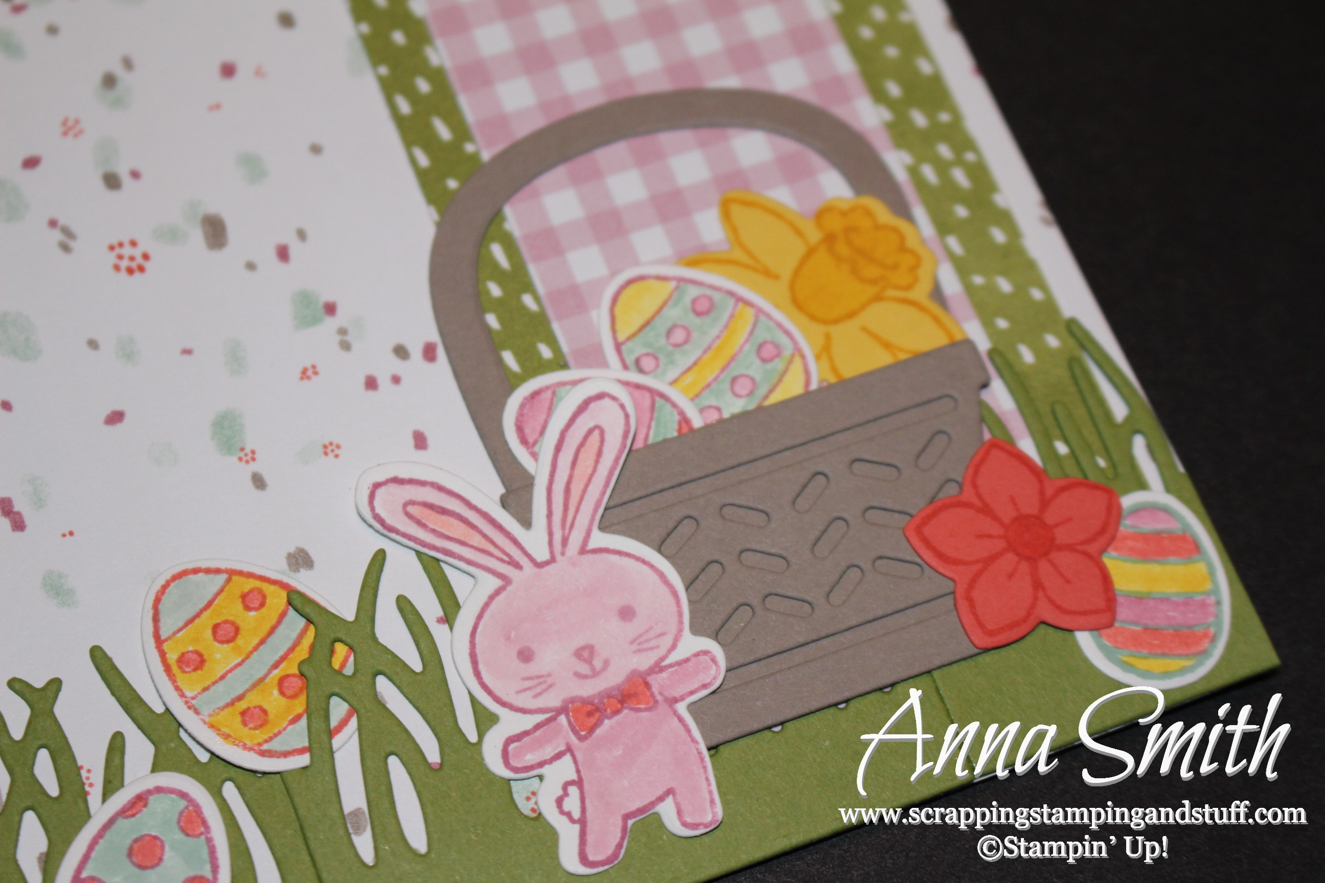Basket Bunch Easter Scrapbook Page Scrapping Stamping