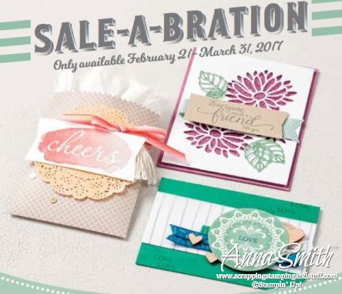 Stampin' Up! Sale-a-bration items free with $50 purchase