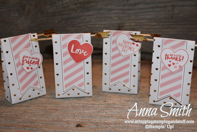 January 2017 Paper Pumpkin Adoring Arrows Valentine's Day treat bags