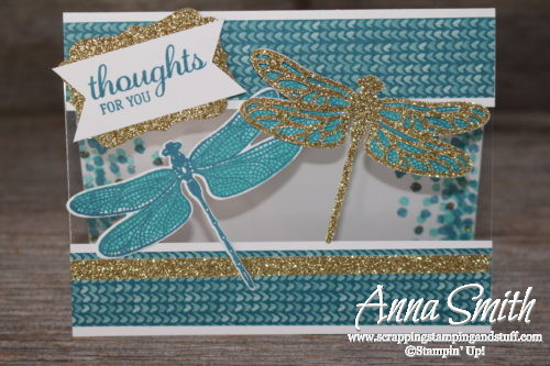 Thinking of you card idea using a special technique and Stampin' Up! Dragonfly Dreams set