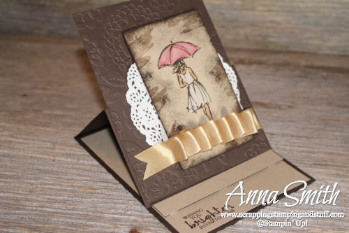 Online stamp club free project for March - Stampin' Up! Beautiful You thinking of you easel card