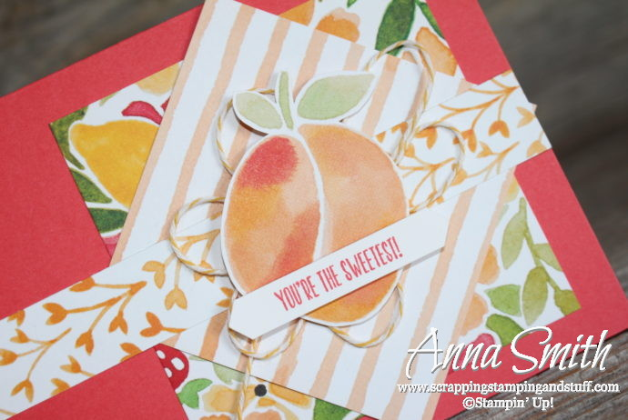 Stampin' Up! thank you card idea using the Fresh Fruit stamp set and Fruit Stand designer paper