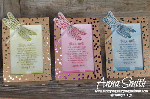Stampin' Up! Dragonfly Dreams Framed Scripture Desk Art 3D Project Tutorial