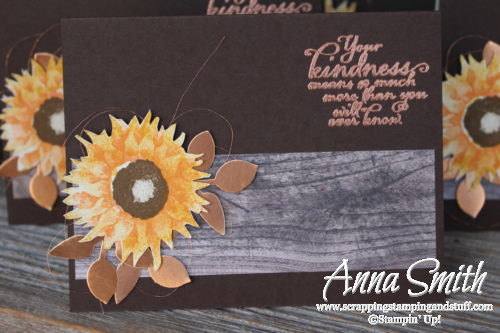 Stampin' Up! Painted Harvest Fall Sunflower Card Idea