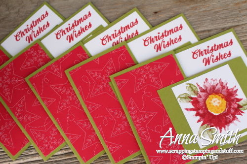 Christmas poinsettia card made with the Stampin' Up! Painted Harvest stamp set