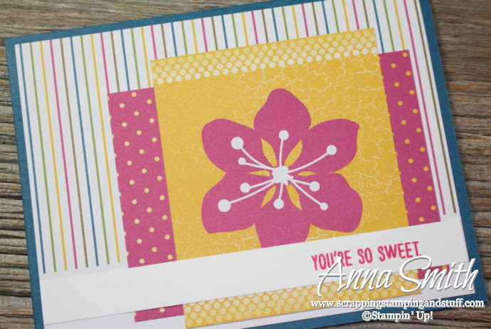 Quick & Easy card idea made with the Stampin' Up! Mixed Drinks stamp set and Color Theory Memories and More card pack