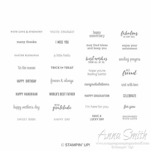 Stampin' Up! Itty Bitty Greetings Stamp Set