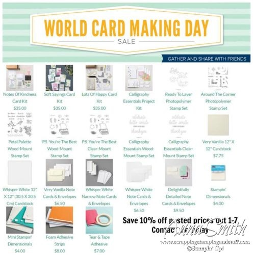Stampin' Up! World Cardmaking Day Sale This Week Only!