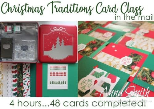 Stampin' Up! Christmas Traditions Punch Box Christmas card kit in the mail - receive enough supplies to make 48 cards in 4 hours along with a simple to follow video tutorial!