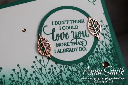"Green masculine foliage I love you card made with the Stampin' Up! Enjoy Life stamp set ""I don't think I could love you more than I already do."""
