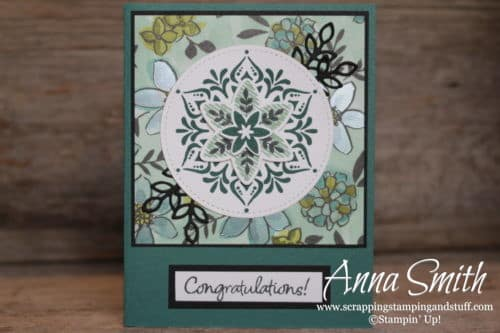 New beginnings card made with the Stampin' Up! Snowflake Showcase Happiness Surrounds stamp set and Snowfall thinlits