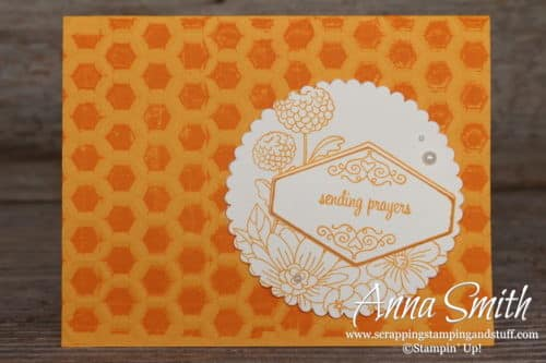 Sending Prayers Card with the Stampin' Up! Accented Blooms Stamp Set