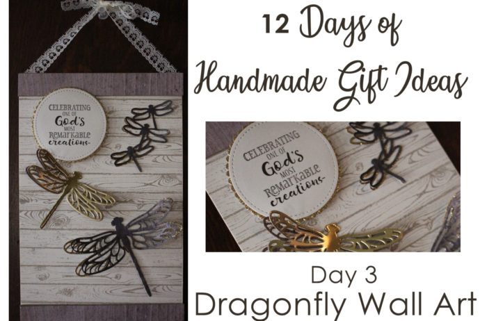 12 Days of DIY Handmade Gift Ideas - Day 3 rustic religious wall hanging using the Stampin' Up! Detailed Dragonfly thinlits and Hold On To Hope stamp set