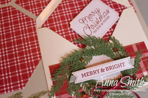 Stampin' Up! Paper Pumpkin November 2018 alternative ideas - Christmas cards, scrapbook page and farmhouse Christmas banner - To You and Yours. A craft kit in the mail!