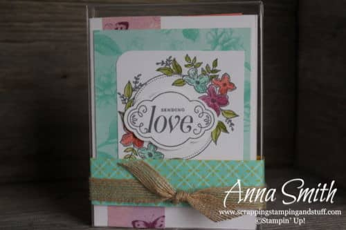 12 Days of DIY Handmade Gift Ideas - Day 2 card set using Stampin' Up! Floral Frames and Label Me Pretty stamp sets and Tea Room designer paper