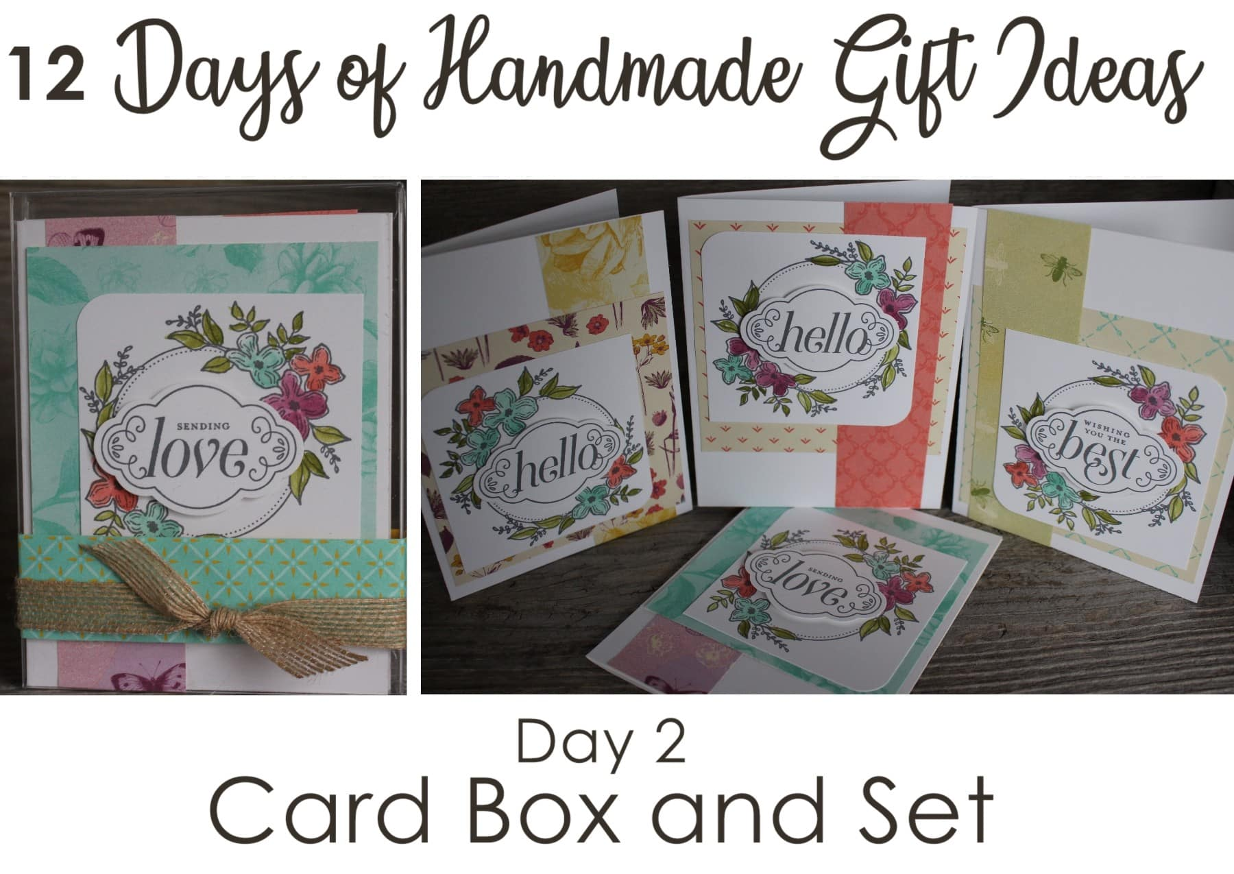 12 Days Of Handmade Gift Ideas Day 2 Card Box And Set Scrapping