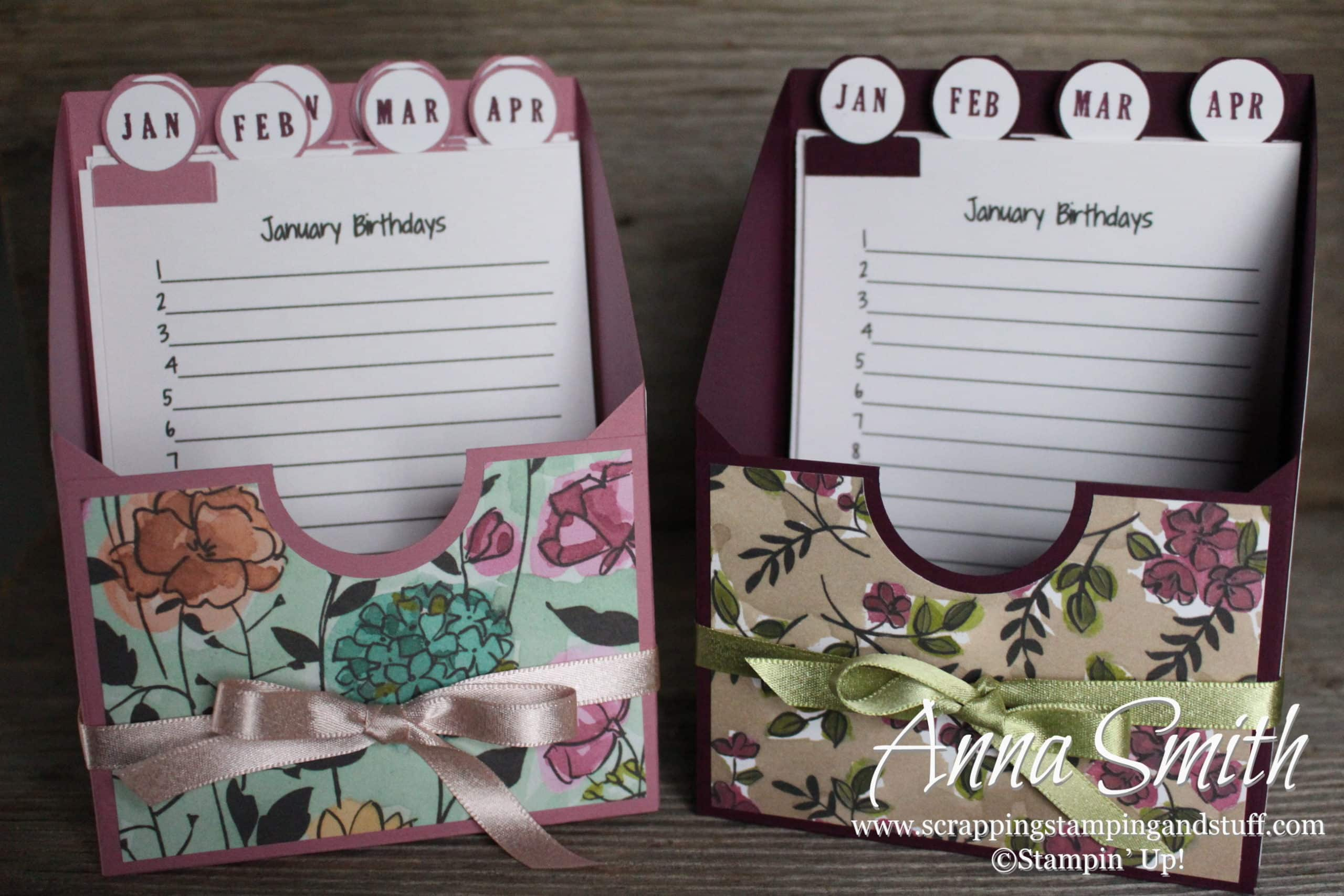 12 Days Of Handmade Gift Ideas Day 9 Birthday Card Organizer