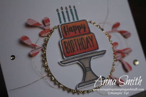 2019 Occasions Catalog Sneak Peek!! Stampin' Up! Piece of Cake birthday card idea