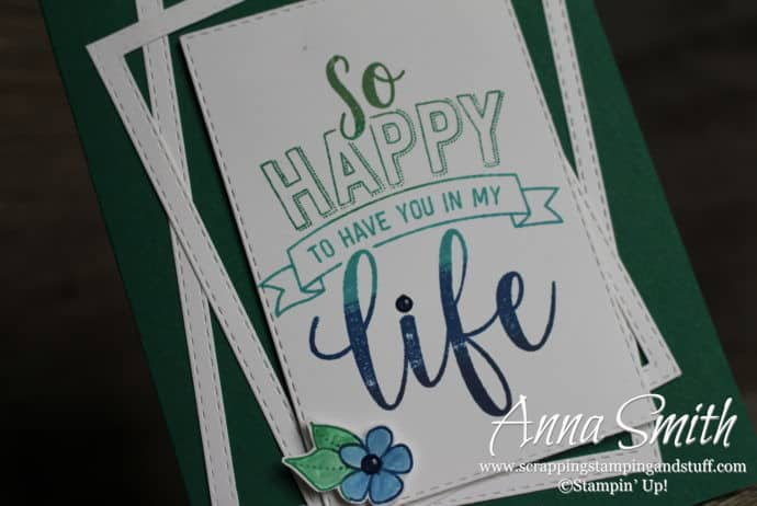 Card idea made with the Stampin' Up! Amazing Life stamp set and Rectangle Stitched Framelits - 2019 Occasions Catalog