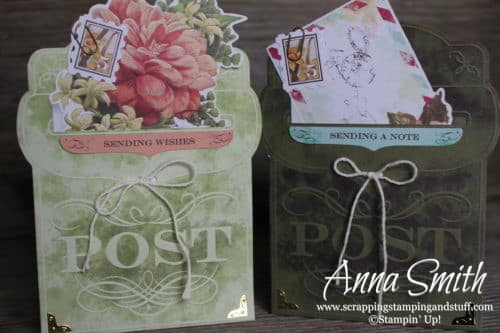 Sale-a-bration 2019 free item option - Stampin' Up! Precious Parcel Card Kit - no stamping required! So cute!