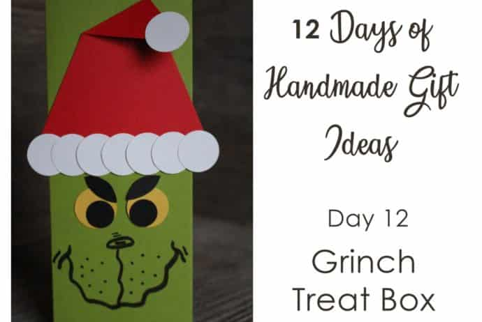 12 Days of Handmade Gift Ideas - Day 12 Grinch treat holder, decorated movie theater candy box using Stampin' Up! supplies, would be a perfect stocking stuffer