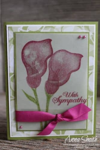 Pretty lily card idea made with the Sale-a-bration Stampin' Up! Lasting Lily stamp set