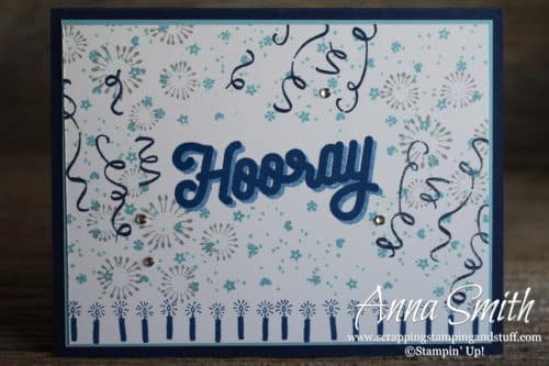 Masculine Birthday Card Idea Using Stampin' Up! Birthday Backgrounds and Broadway Birthday Stamp Sets