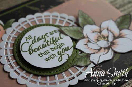 Stampin' Up! Magnolia Lane Card Featuring the Floral Essence Stamp Set