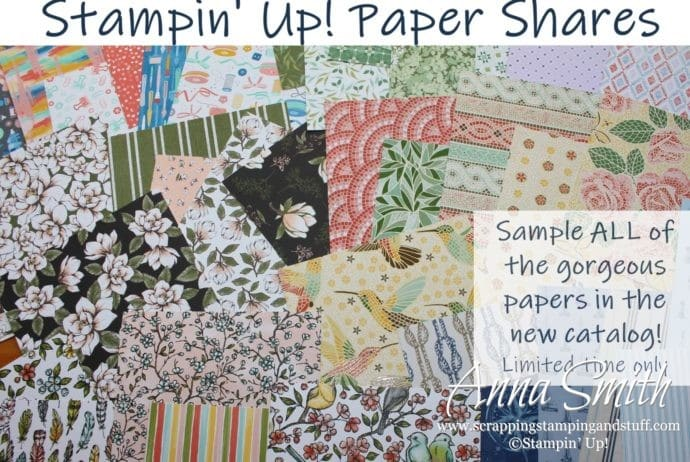 Love Stampin' Up! paper, but can't afford it all? These paper shares include prints from all paper packs, so you can enjoy it all without all the expense!