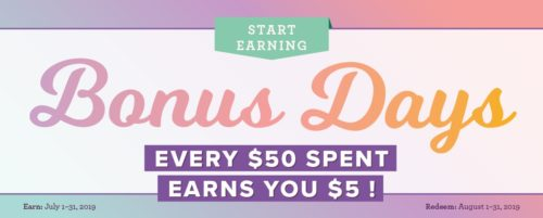 Stampin Up Bonus Days